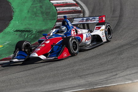September 20, 2019 - Salinas, California, USA: TONY KANAAN (14) of Salvador, Brazil  practices for the Firestone Grand Prix of Monterey at Weathertech Raceway Laguna Seca in Salinas, California.