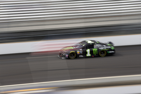 September 08, 2019 - Indianapolis, Indiana , USA: Kurt Busch (1) battles for position down the front stretch for the  Big Machine Vodka 400 at the Brickyard at Indianapolis Motor Speedway in Indianapo