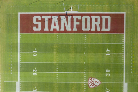 September 24, 2019 - Stanford, California, USA: Stanford Stadium is an outdoor athletic stadium in Stanford, California, on the campus of Stanford University. It is the home of the Stanford Cardinal college football team as well as the site of the univers