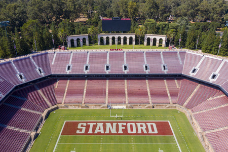 September 24, 2019 - Stanford, California, USA: Stanford Stadium is an outdoor athletic stadium in Stanford, California, on the campus of Stanford University. It is the home of the Stanford Cardinal college football team as well as the site of the univers Editorial