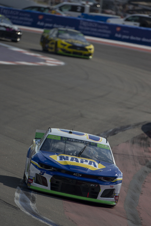 September 29, 2019 - Concord, North Carolina, USA: Chase Elliott (9) makes a pit stop for the Bank of America ROVAL 400 at Charlotte Motor Speedway in Concord, North Carolina.