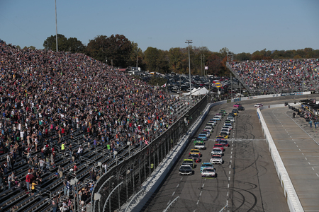 October 27, 2019 - Martinsville, Virginia, USA: Denny Hamlin (11) races for the First Data 500 at Martinsville Speedway in Martinsville, Virginia.