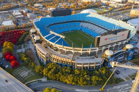 Bank of America Stadium is home to the NFL's Carolina Panthers in Charlotte, NC.