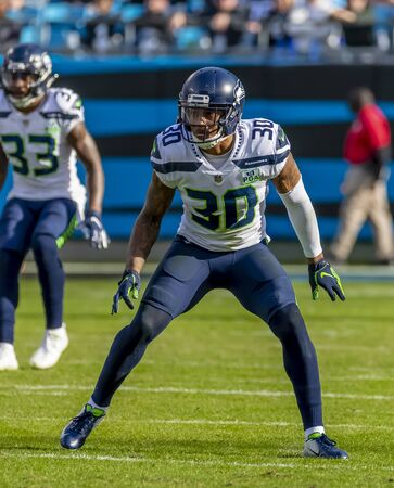 November 25, 2018 - Bradley MCDOUGALD (30) plays against the Carolina Panthers at Bank Of America Stadium in Charlotte, NC.  The Panthers lose to the Seahawks, 30-27.