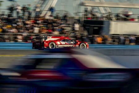 The Whelen Engineering Racing Cadillac DPI car  race for the Rolex 24 At Daytona at Daytona International Speedway in Daytona Beach, Florida.