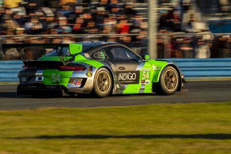 The Black Swan Racing Porsche 911 GT3 R car  race for the Rolex 24 At Daytona at Daytona International Speedway in Daytona Beach, Florida. Editöryel