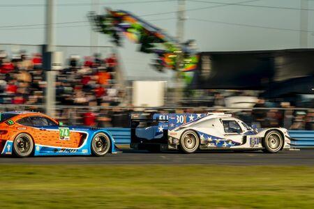The DragonSpeed USA Oreca LMP2 07 car race for the Rolex 24 At Daytona at Daytona International Speedway in Daytona Beach, Florida.