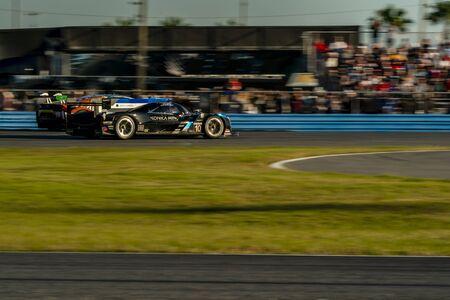 The Konica Minolta Cadillac DPI-V.R. car race for the Rolex 24 At Daytona at Daytona International Speedway in Daytona Beach, Florida. Editorial