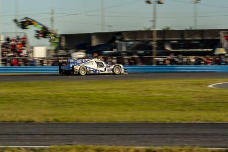 Wyścig samochodowy DragonSpeed USA Oreca LMP2 07 dla Rolexa 24 na torze Daytona International Speedway w Daytona Beach na Florydzie. Publikacyjne