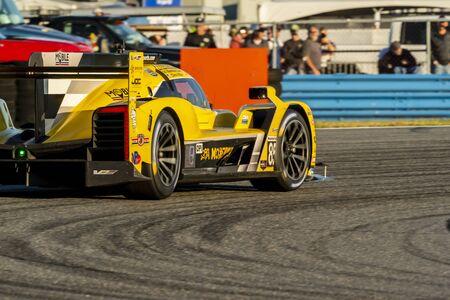 The JDC-Miller Motorsports Cadillac DPi car race for the Rolex 24 At Daytona at Daytona International Speedway in Daytona Beach, Florida.