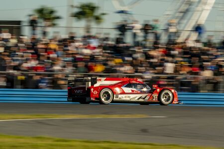 The Whelen Engineering Racing Cadillac DPI car  race for the Rolex 24 At Daytona at Daytona International Speedway in Daytona Beach, Florida.