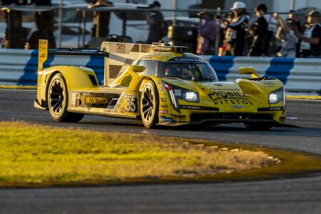 The JDC-Miller Motorsports Cadillac DPi car race for the Rolex 24 At Daytona at Daytona International Speedway in Daytona Beach, Florida.