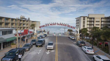 January 24, 2020 - Daytona Beach, Florida, USA: Aerial views of the city of Daytona Beach, Florida, the Worlds Greatest Beach Zdjęcie Seryjne - 139322499