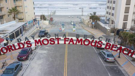 January 24, 2020 - Daytona Beach, Florida, USA: Aerial views of the city of Daytona Beach, Florida, the Worlds Greatest Beach Zdjęcie Seryjne - 139322512