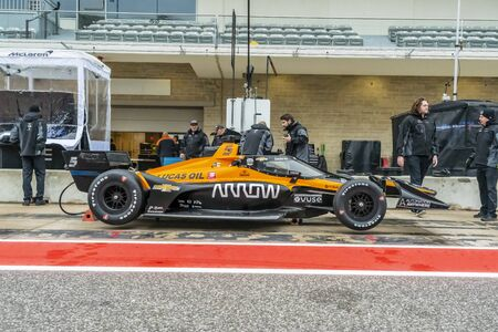 The Arrow McLaren Smith Peterson race car sits on pit road before the INDYCAR SERIES Open Test at The Circuit Of The Americas in Austin, TX. Editorial