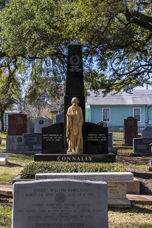 Burial site of Governor John Bowden Connally Jr. at Texas State Cemetery in Austin, Texas Sajtókép