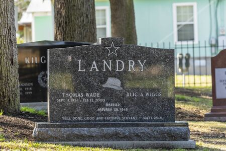The Cenotaph of Thomas Wade Landry at Texas State Cemetery in Austin, Texas