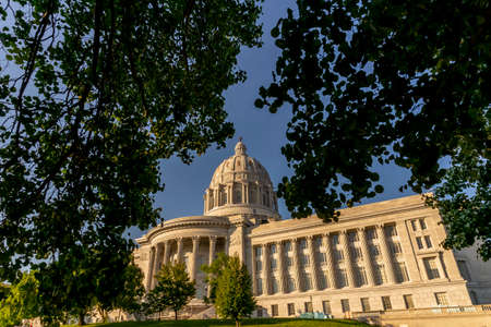 August 26, 2020 - Jefferson City, Missouri, USA: The Missouri State Capitol located in Jefferson City and it is the third capitol in the city after the other two were demolished when they were damaged in fires.