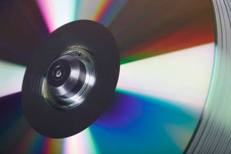 Isolated view of a stack of DVD's in a studio environment