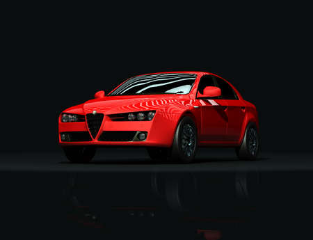 luxurious: Luxurious Stylish Red Car