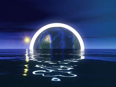 other world: Abstract Earth Sphere Concept