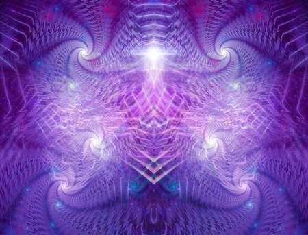 Póster o portada de álbum de arte fractal visionario psicodélico