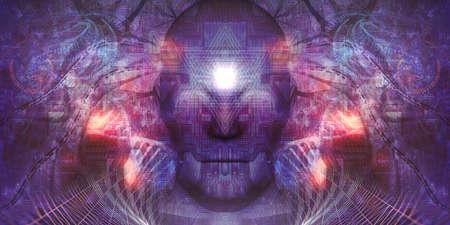 HiTech Psychedelic Art Concept ist ein großartiges Hintergrundbild für alle spirituellen Zwecke. Lika; Meditation Visual oder Tapisserie Spirituelle Dekoration Related Nachrichten Psychedelisches Design, Tapisserie, Albumcover oder Flyer