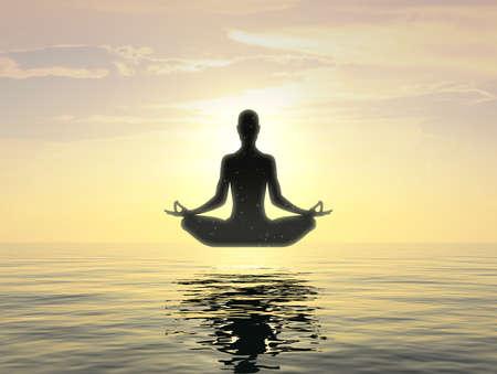 Meditation of Silence Vipassana Concept