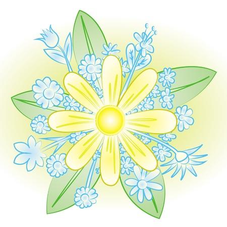 barium: set of floral elements