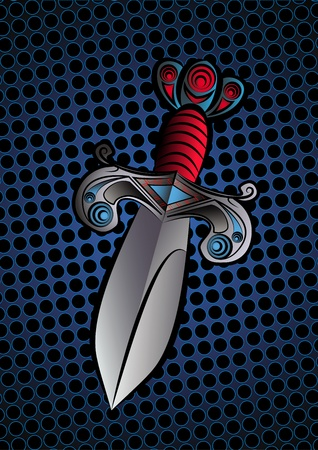 Illustration of a dagger or a sword