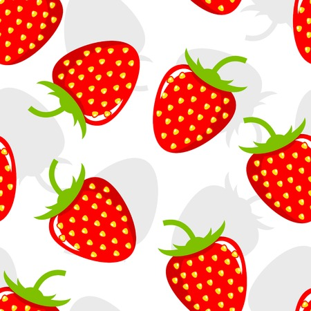 Seamless background with strawberries. Simple vector illustration Vector
