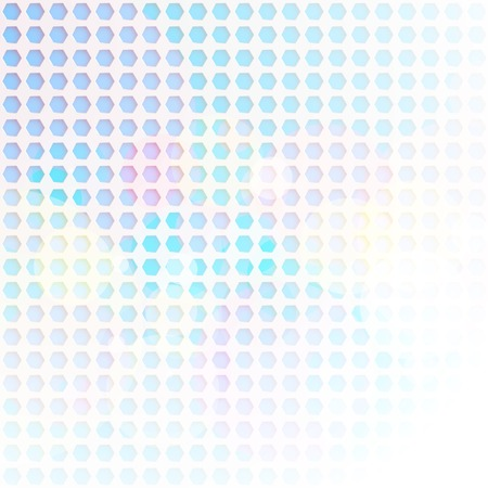 Abstract light background of hexagons with space for text