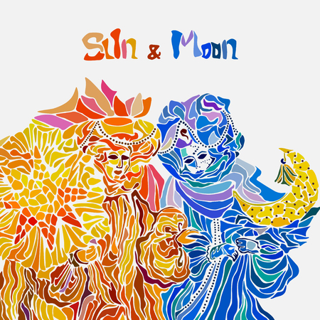 The moon and the sun in the form of Venetian Festival