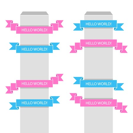 Set of vector ribbons for your text Illustration