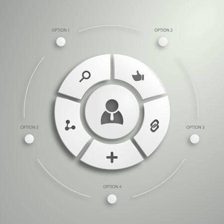 Appartamento UI Design Mobile. Poligono di design infografica.