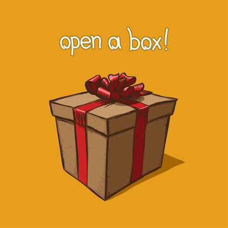 Vector illustration of christmas gift boxes