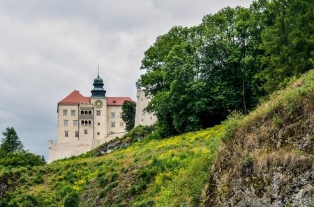 Beautiful historic castle. Castle in Pieskowa Skala in Poland. Editorial