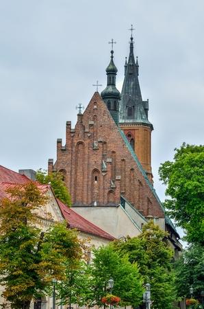 Church of the collegiate in Olkusz, Poland. Basilica of St. Andrew the Apostle in Olkusz.