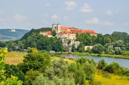 Beautiful historic monastery. Benedictine abbey in Tyniec near Krakow, Poland.