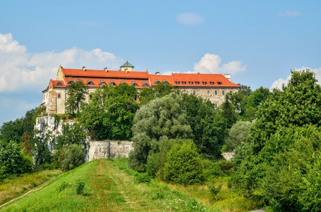Beautiful historic monastery. Benedictine abbey in Tyniec near Krakow, Poland.