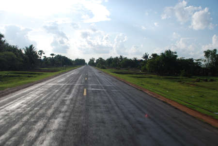 seson: road receding into the distance, straight road