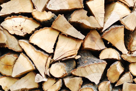 stack of firewood: Firewood stack Stock Photo