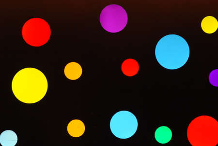 columb: colorful LED Lights background, black background