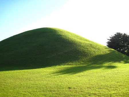 grave site: Korea, The tomb of the Silla Dynasty Stock Photo
