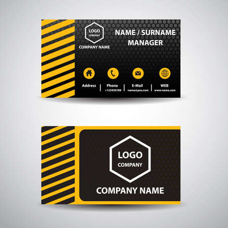 yellow card: business card