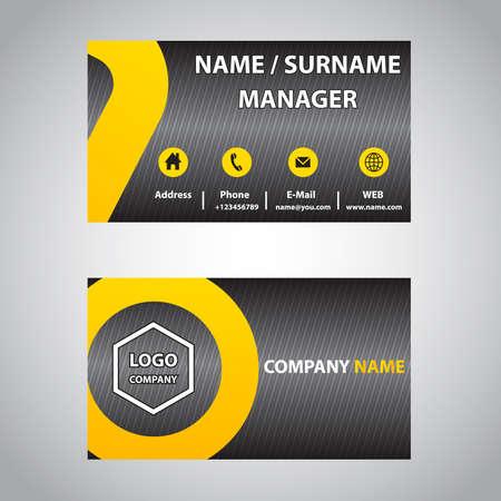 blank business card: Business card