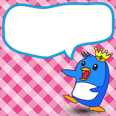 cute text box: Penguin King