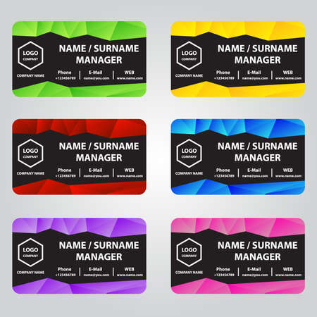 business cards: colorful business cards