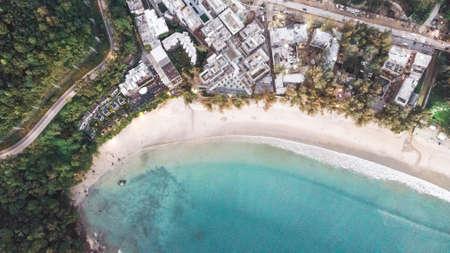 Aerial sea beach coastline