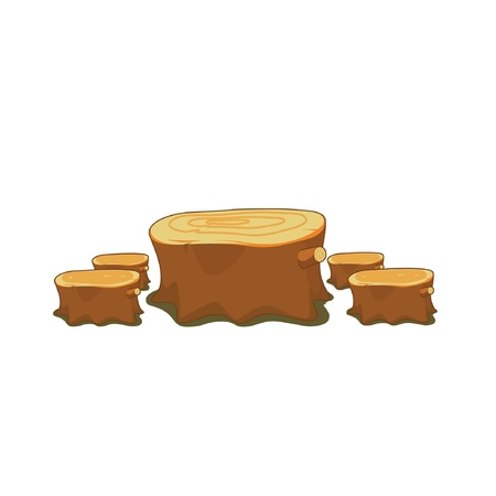 tree cross section: Logs or tree stumps